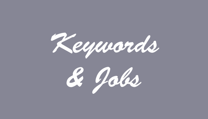 keywords in job postings
