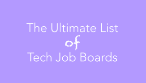 tech job boards