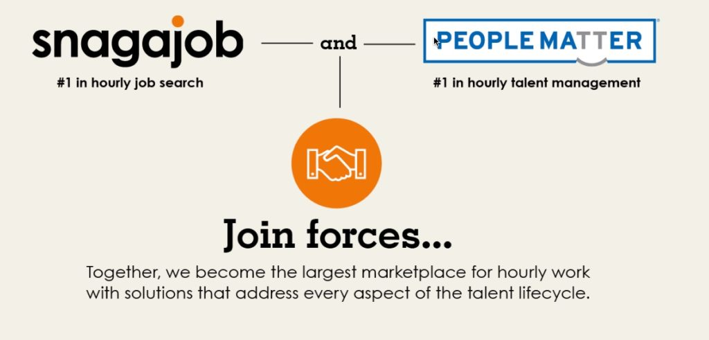 snagajob acquires peoplematter