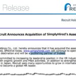 Recruit Holdings Finally Confirms SimplyHired Acquisition