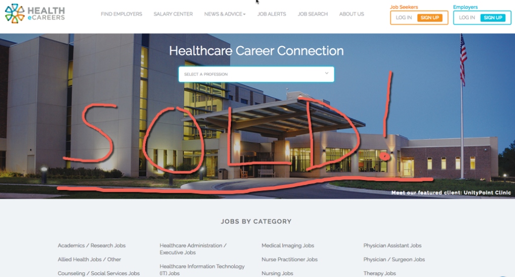 DHI Sells Health Job Site for $15 Million | Recruiting Headlines