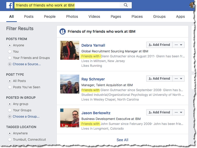 Friends of Friends Facebook Sourcing Hack | Recruiting Headlines