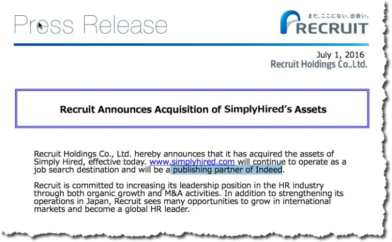Recruit Holdings SimplyHired