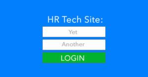HR tech login problem