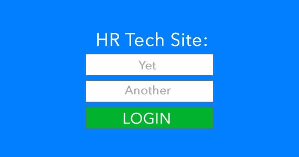 HR tech login problem