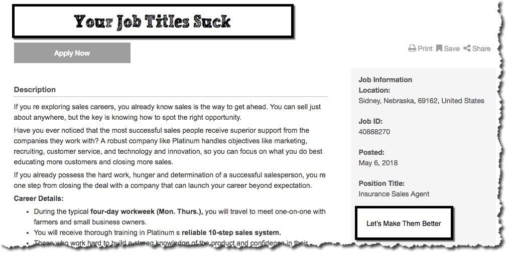 your job titles