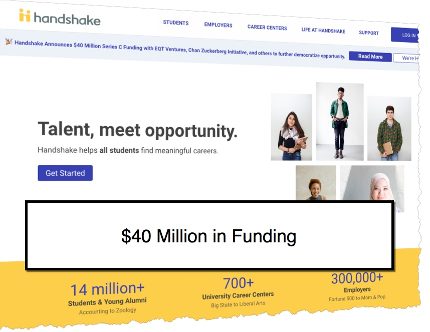 Early Career Job Market Handshake Raises $40 Million | Recruiting