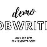 RecTechLive: JobWriter, July 1st
