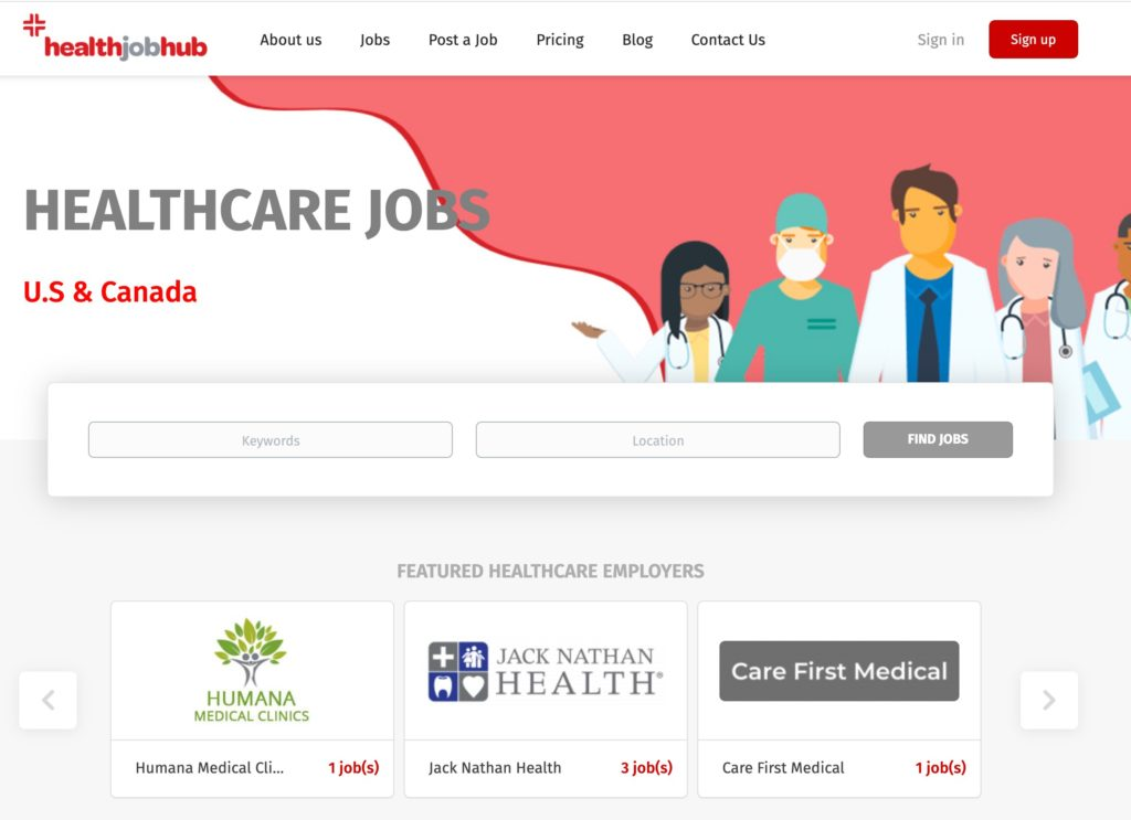healthjobhub - healthcare job board