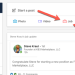 LinkedIn adds 'Job' Post Feature to Personal Feed