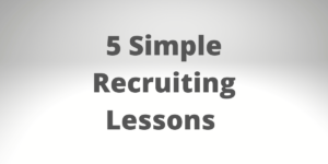 recruiting lessons