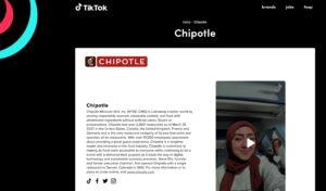 chipotle TikTok resumes